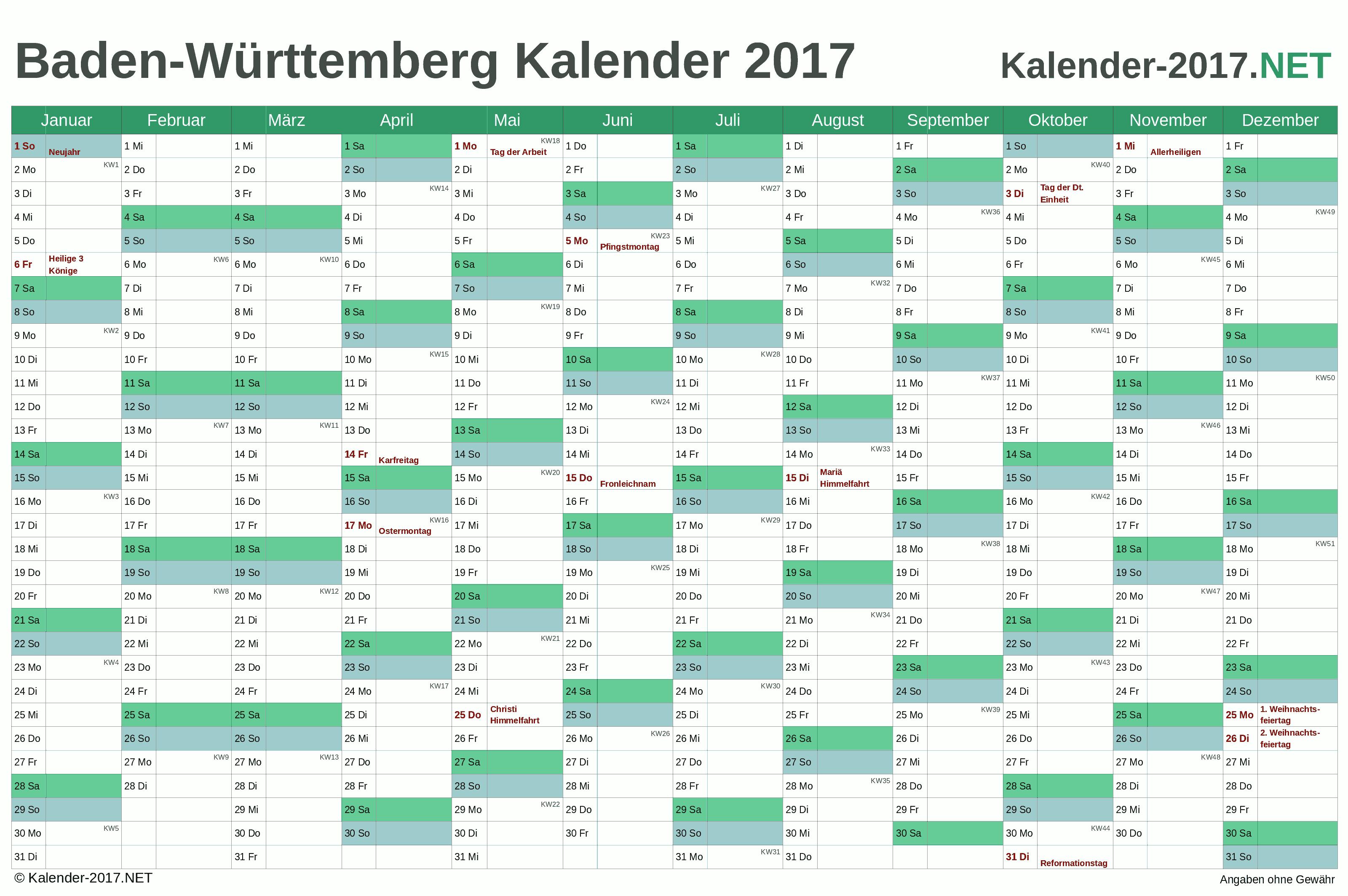 Kalender 2020 Baden Wurttemberg Kalender 2020 Zum Ausdrucken