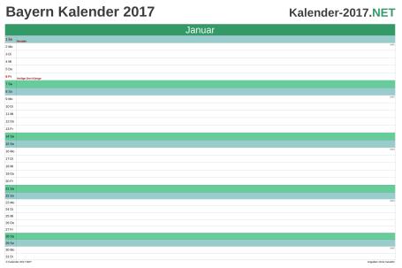 Bayern Monatskalender 2017 Vorschau