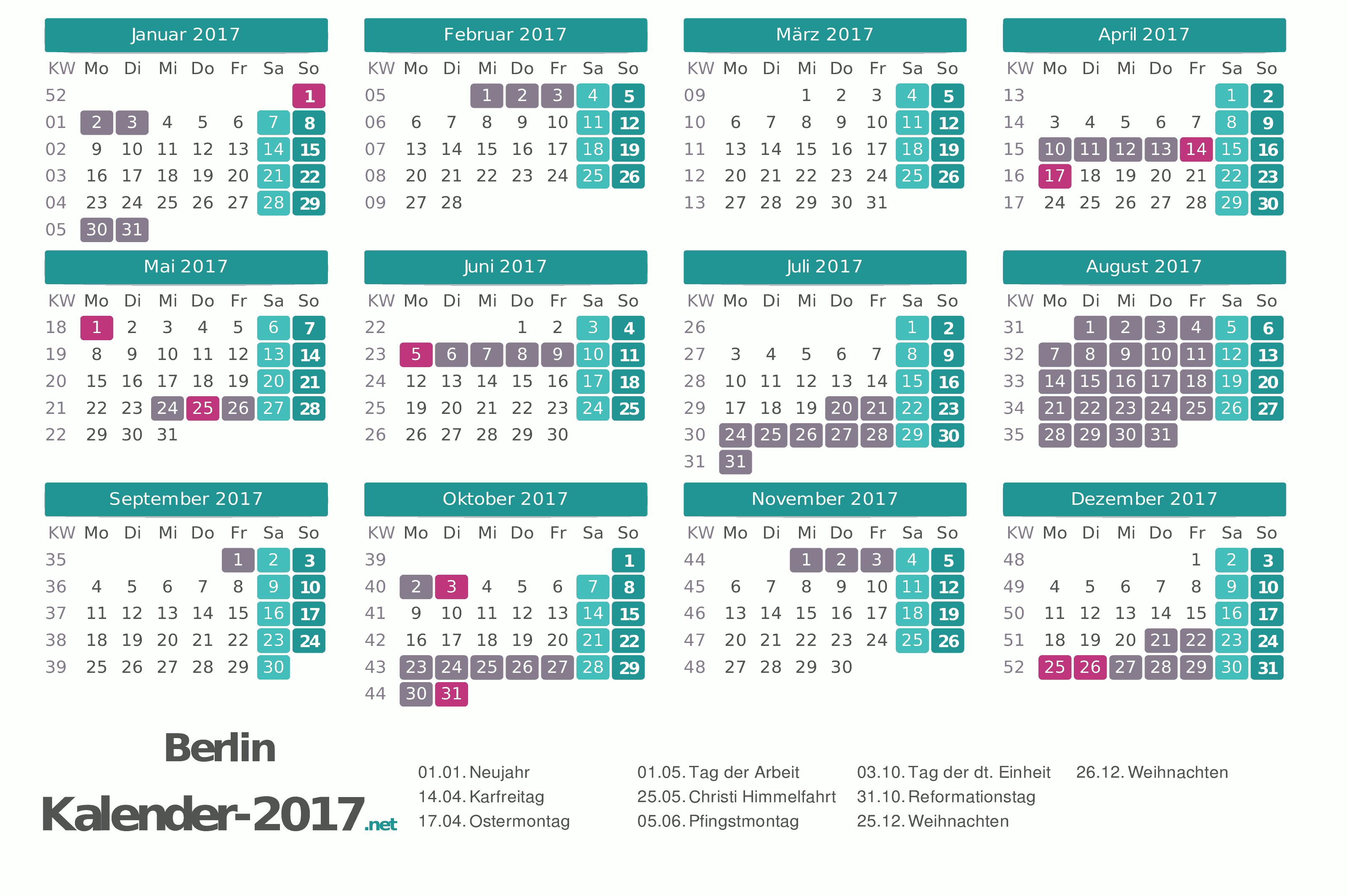 Ferien Berlin 2017 Ferienkalender Amp 220 Bersicht