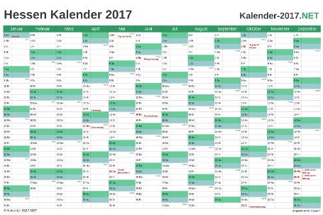 Hessen Kalender 2017 Vorschau