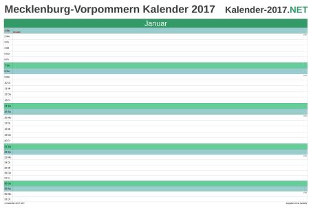 Meck-Pomm Monatskalender 2017 Vorschau