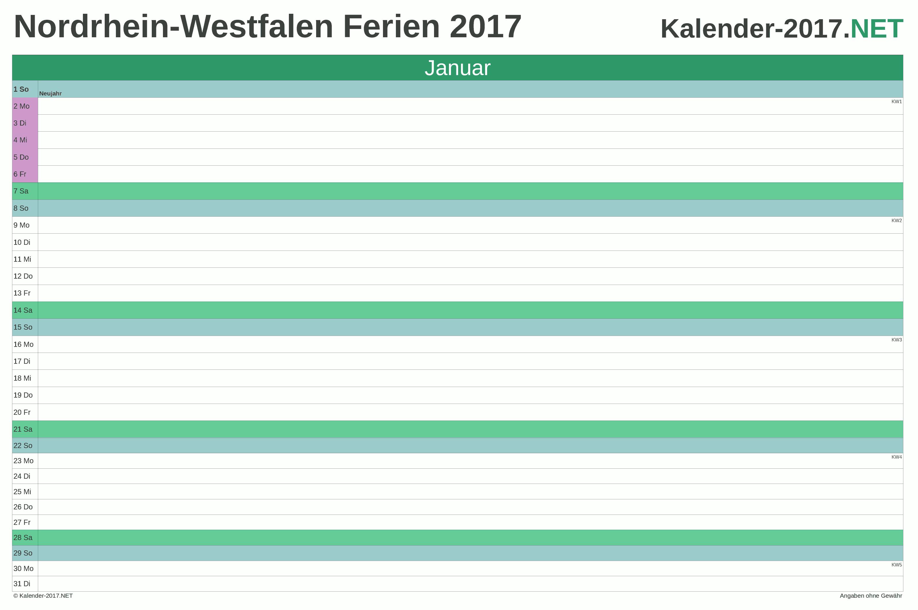 Ferien Nordrhein Westfalen 2017 Ferienkalender Ubersicht