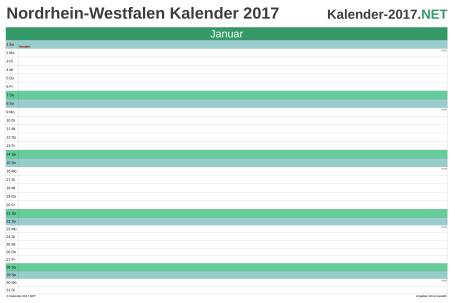 Nordrhein-Westfalen Monatskalender 2017 Vorschau