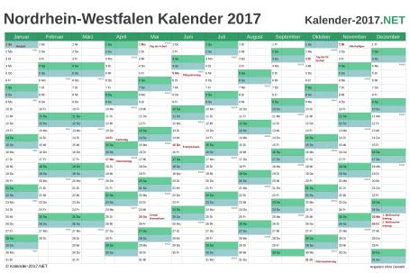 Nordrhein-Westfalen Kalender 2017 Vorschau